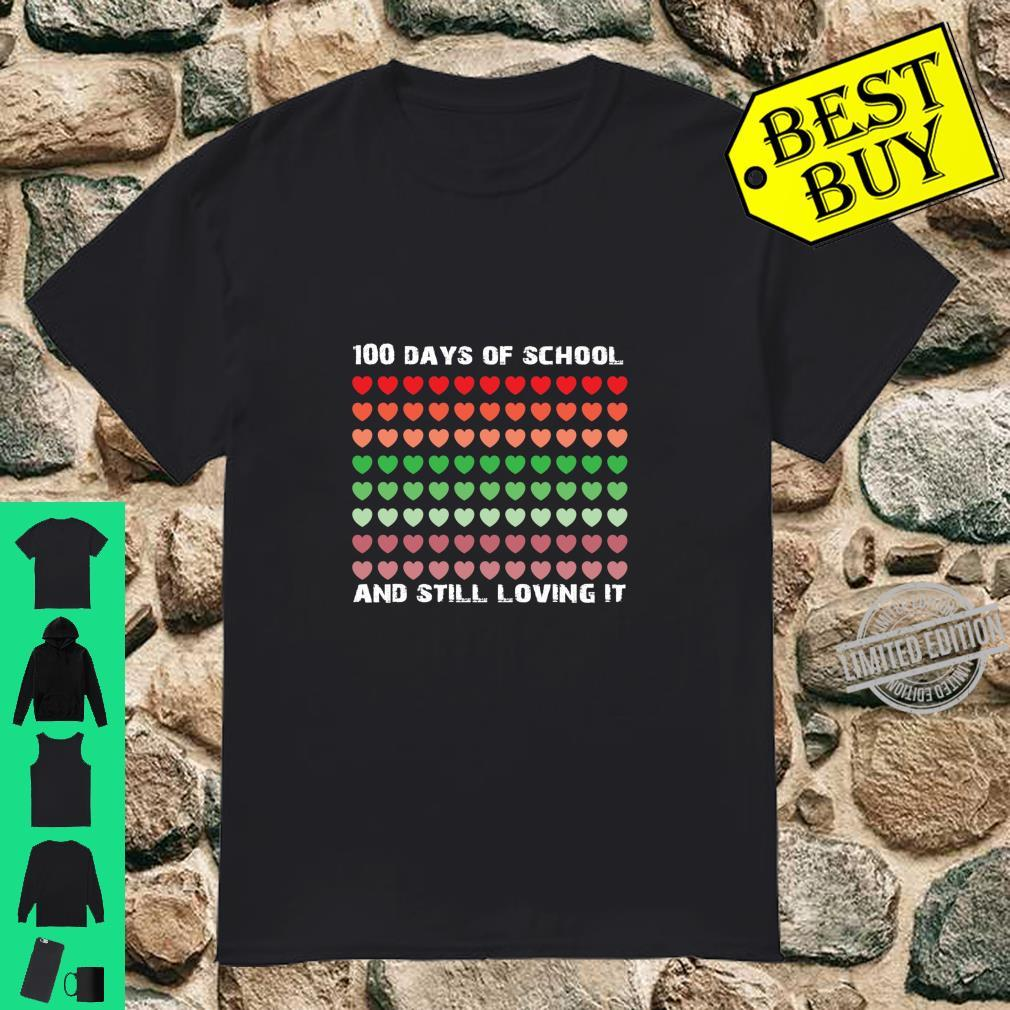 100 Days of School Heart Love Presents Shirt