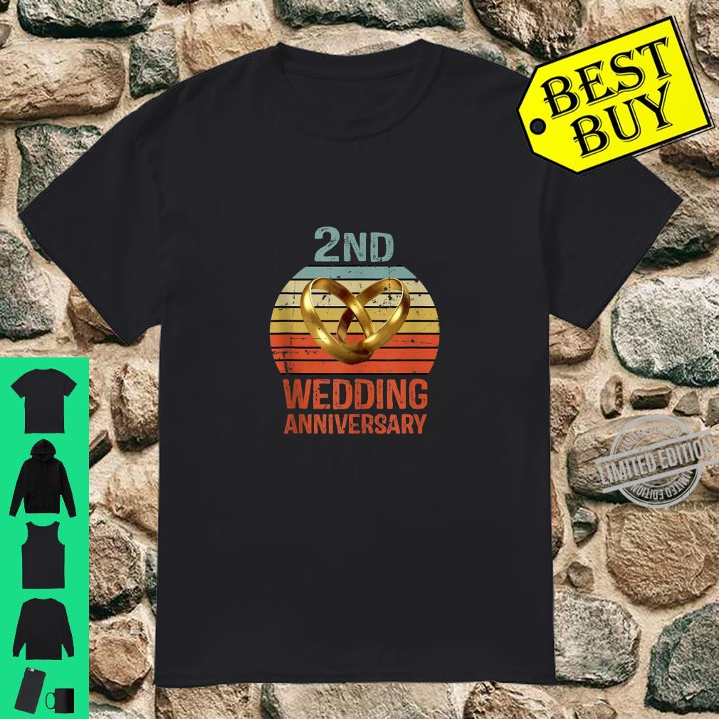 2nd Anniversary For Him Her Coupless Shirt