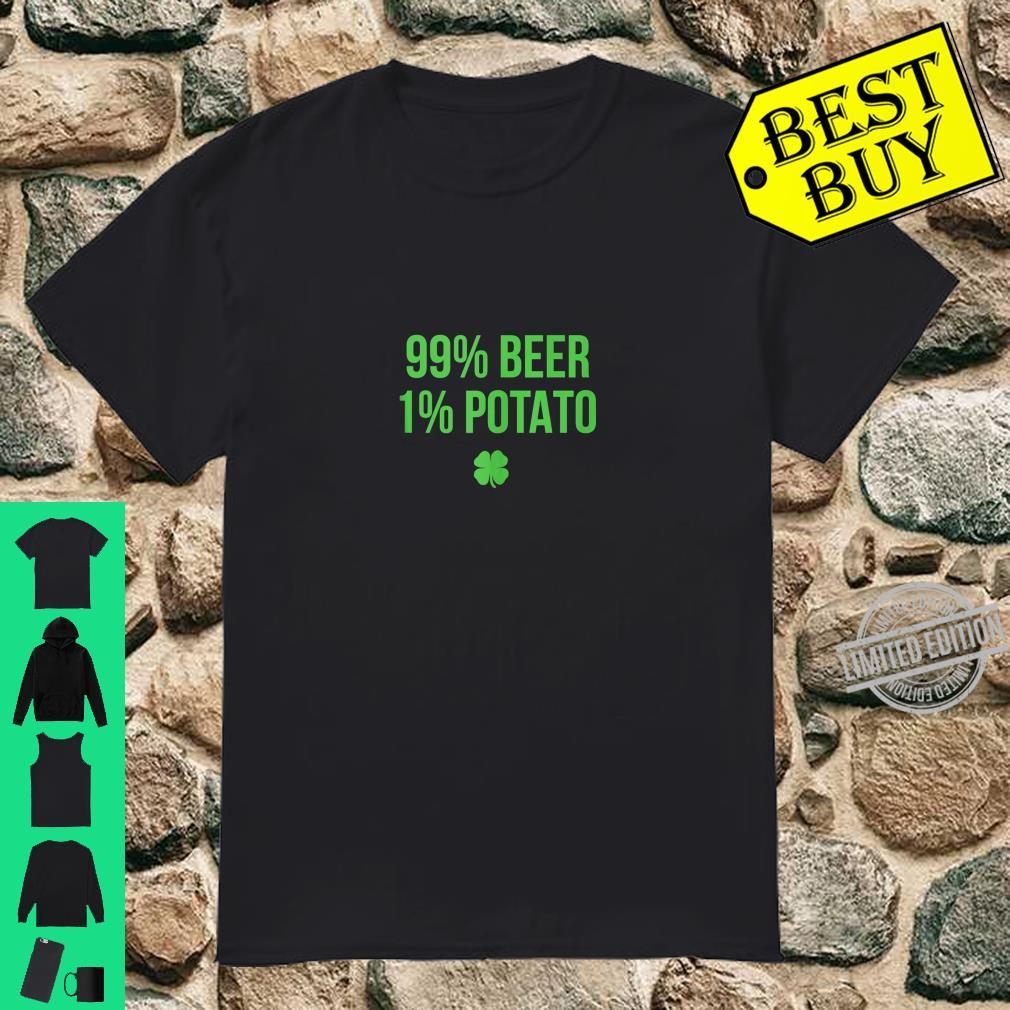 99% Beer 1% Potato St. Patricks Day Shirt