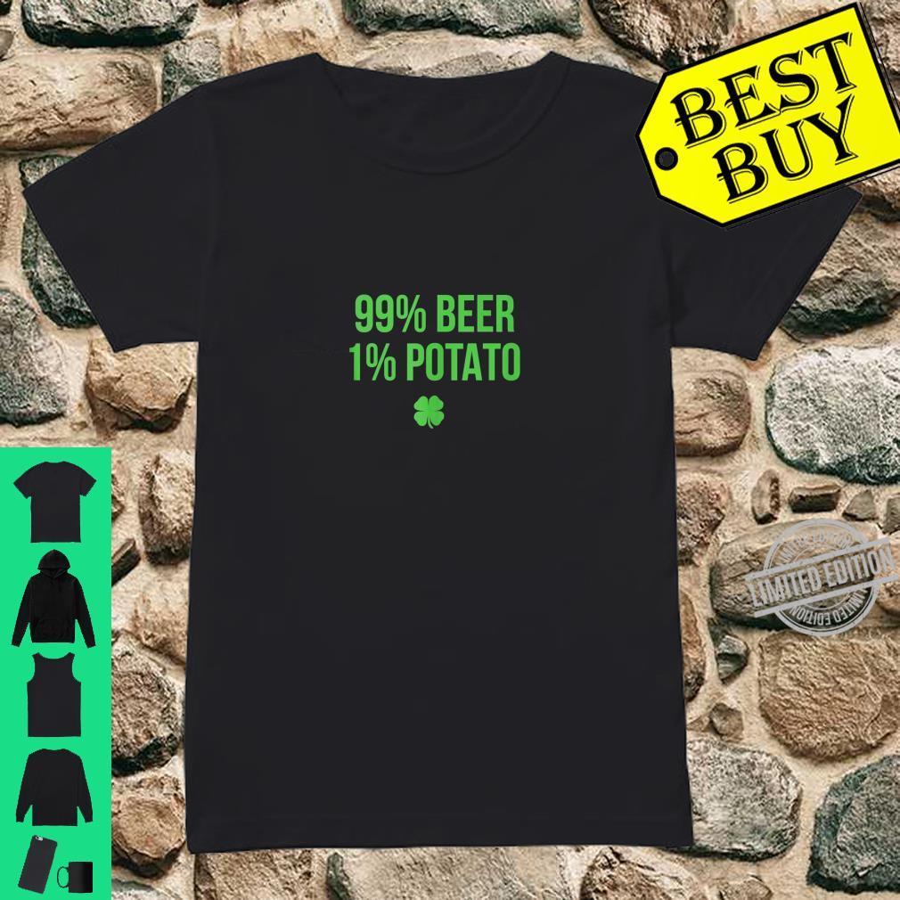 99% Beer 1% Potato St. Patricks Day Shirt ladies tee