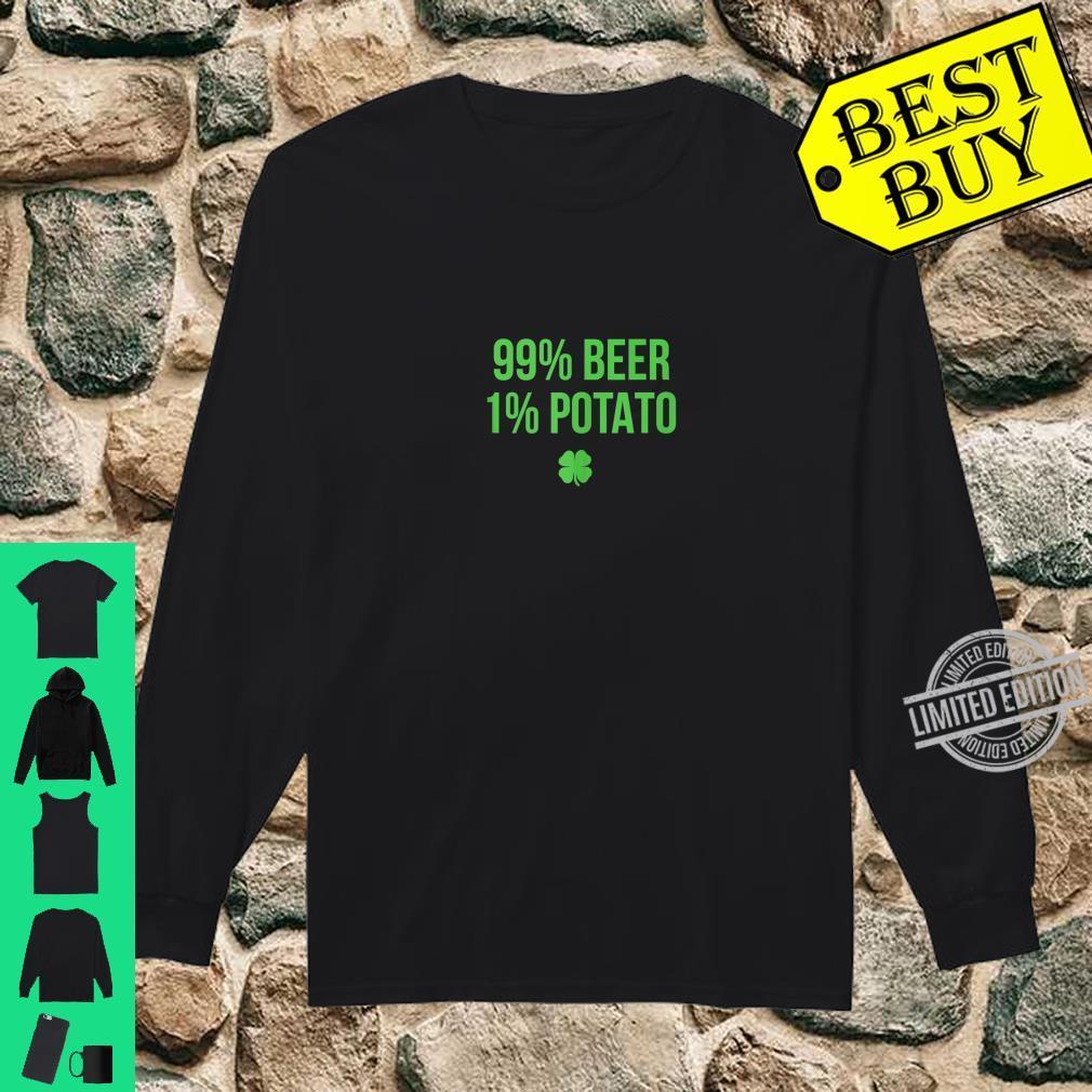99% Beer 1% Potato St. Patricks Day Shirt long sleeved
