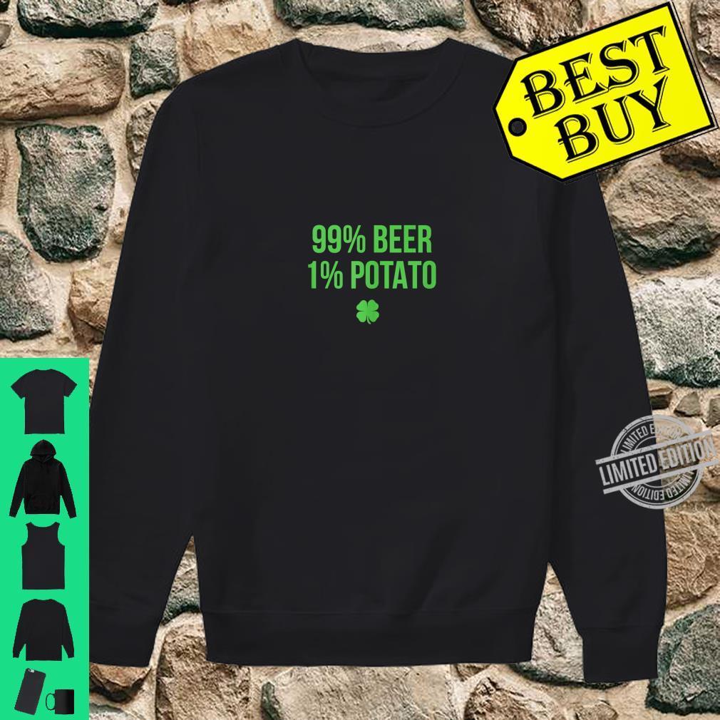 99% Beer 1% Potato St. Patricks Day Shirt sweater