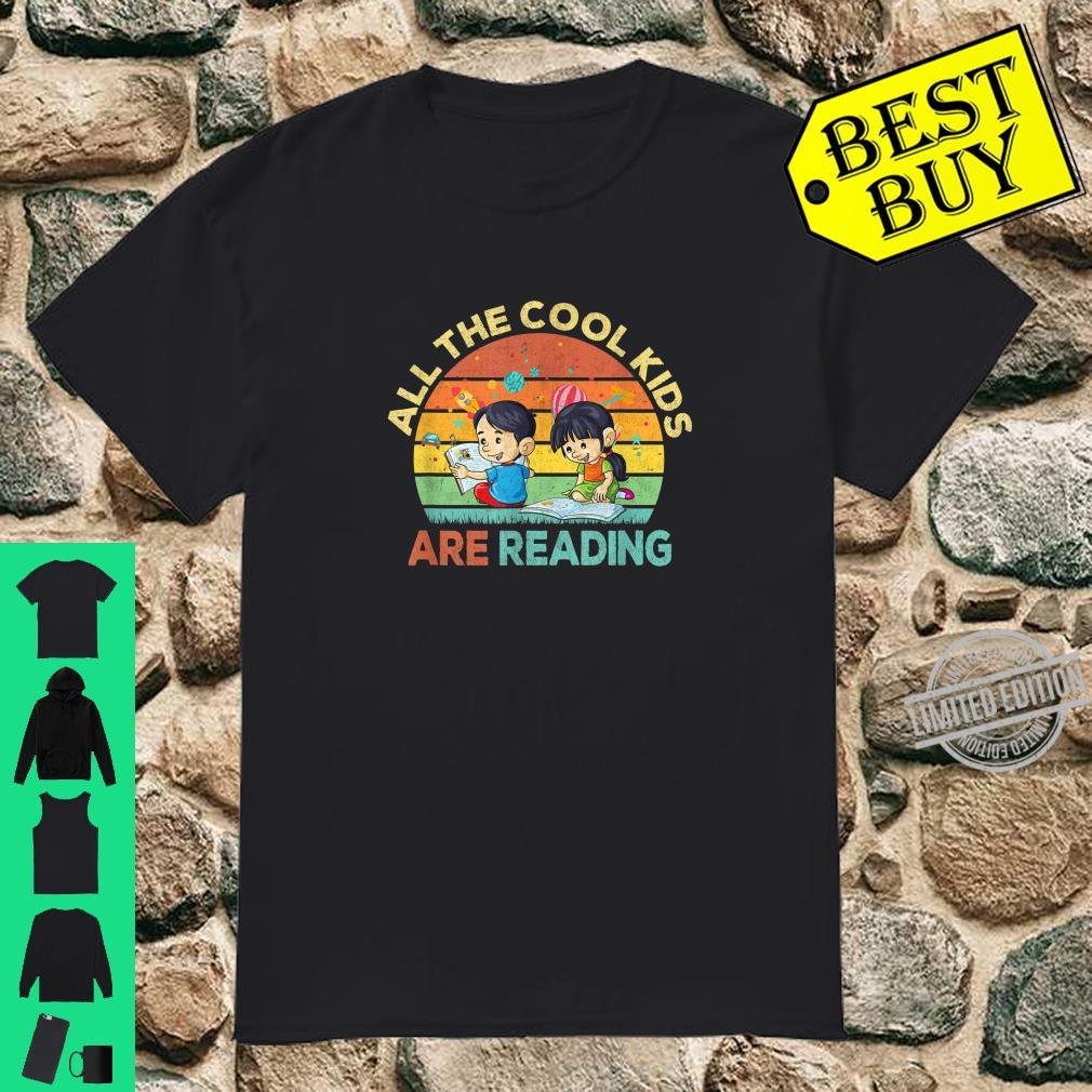All the Cool are Reading Book Vintage Retro Sunset Shirt