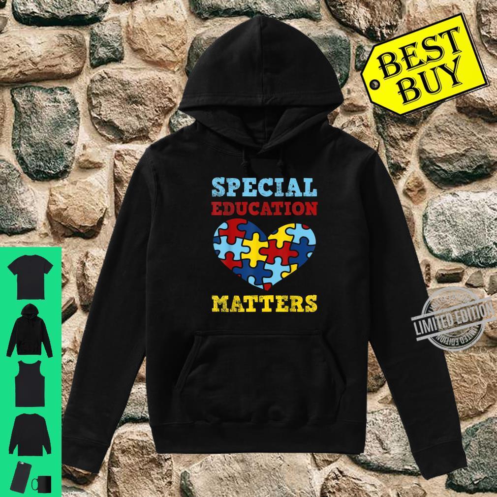 Autism Awareness SPED Special Education Teacher Shirt hoodie