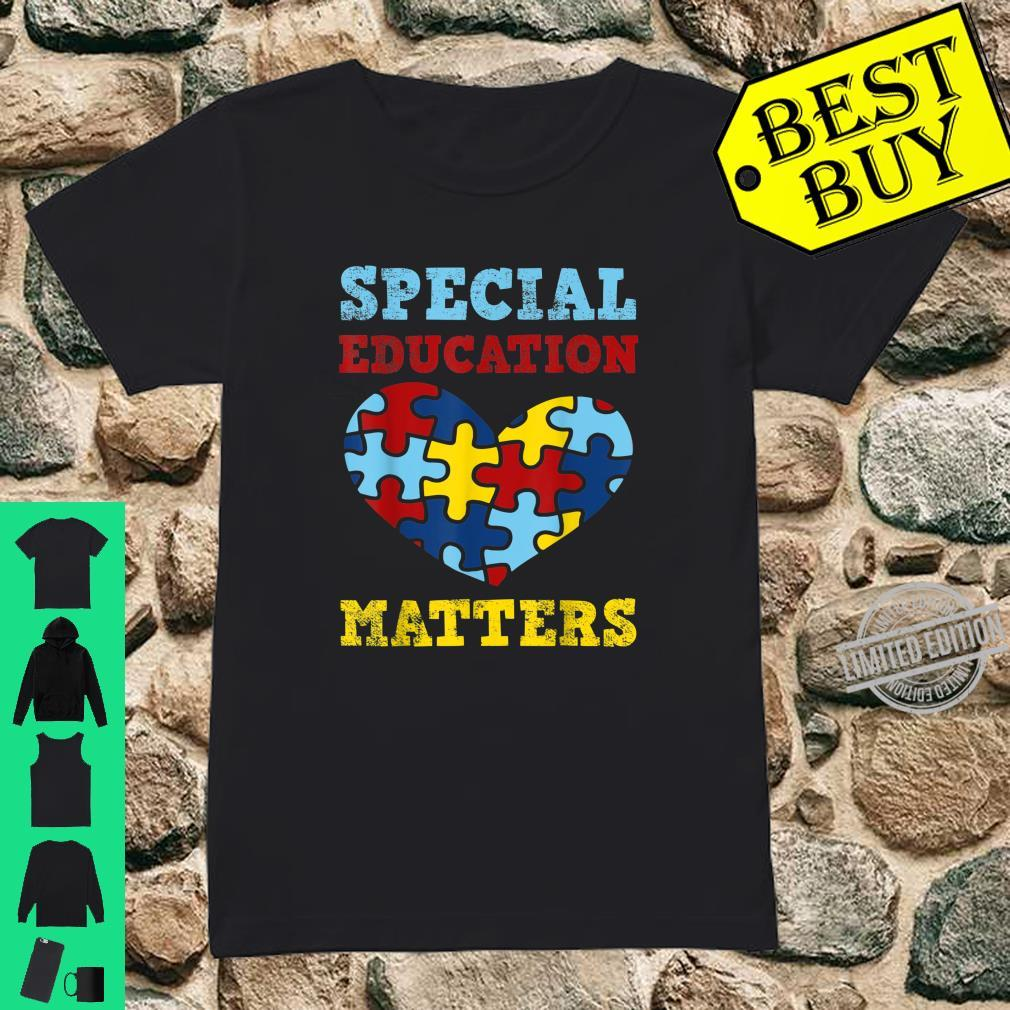 Autism Awareness SPED Special Education Teacher Shirt ladies tee