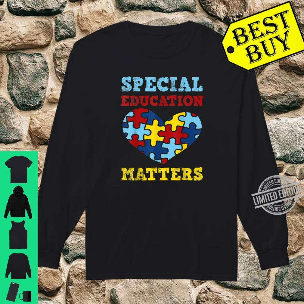 Autism Awareness SPED Special Education Teacher Shirt long sleeved