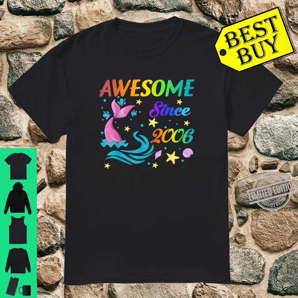 Awesome Since 200614th Mermaid Birthday Girls Party Shirt