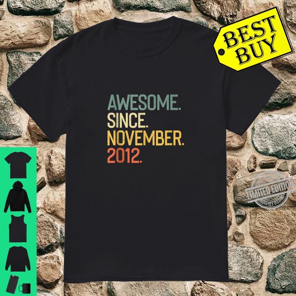 Awesome since November 2012 Vintage 7th Birthday Shirt