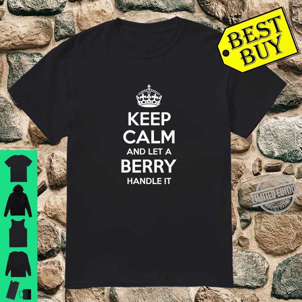 BERRY Surname Family Tree Birthday Reunion Idea Shirt