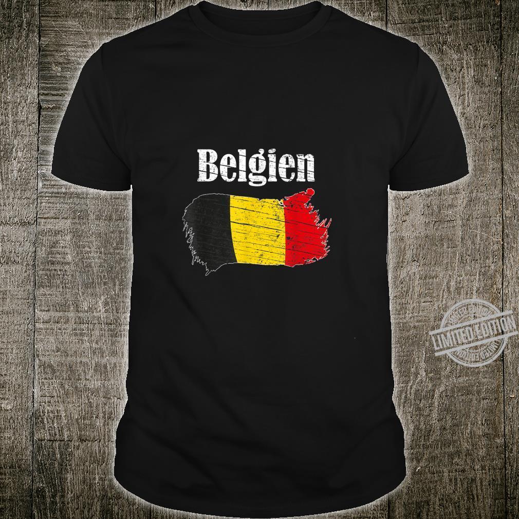 Belgien Belgian Flag Vintage Belgiums Shirt