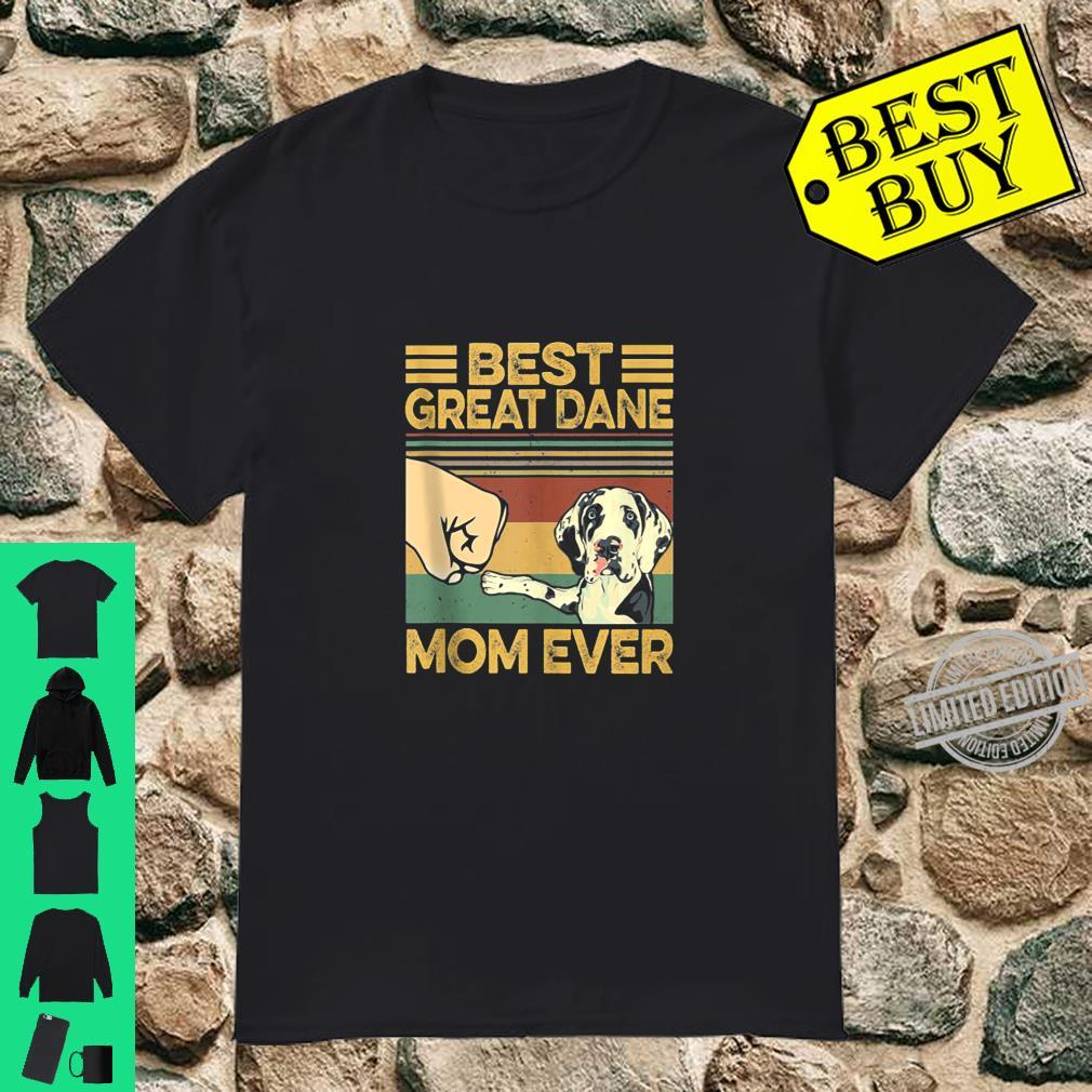 Best Great Dane Mom Ever Retro Vintage Shirt