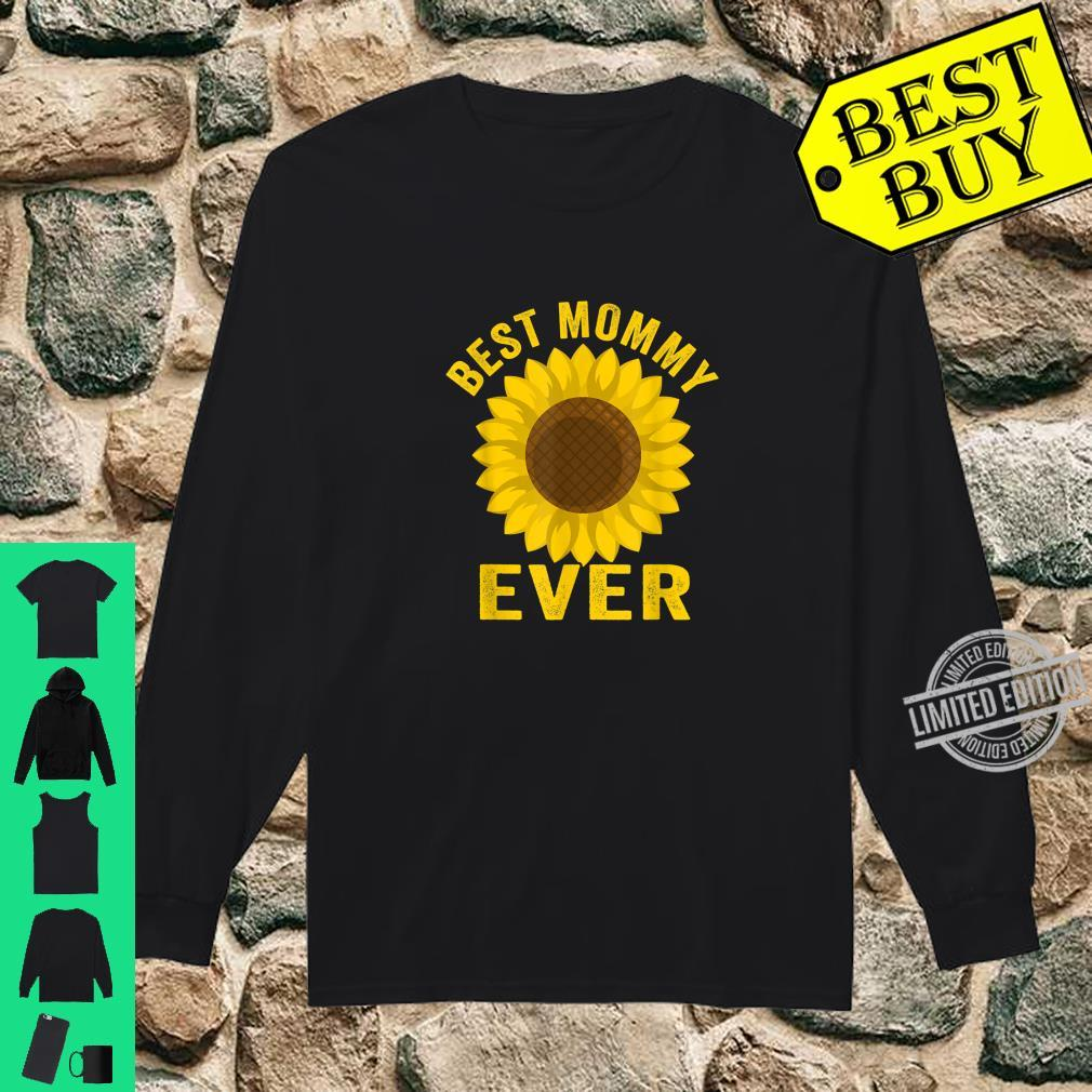 Best Mommy Ever Sunflowers Mothers Day Shirt long sleeved