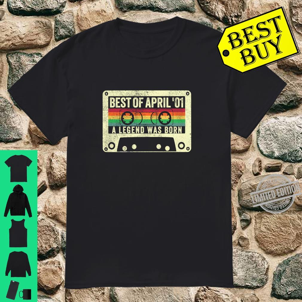 Best Of April 2001 19th Birthday 19 Years Old Born Shirt