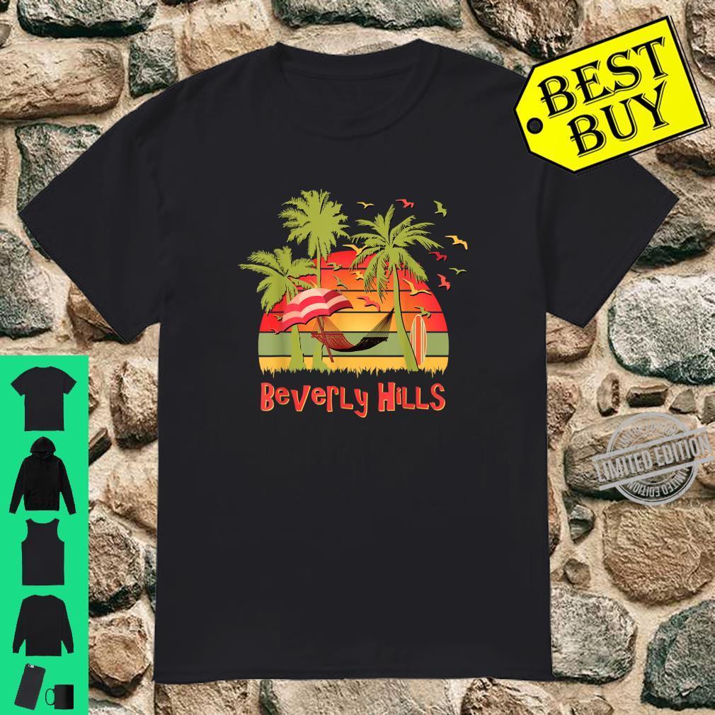 Beverly Hills Tropical Beach Hammock Sunset Shirt