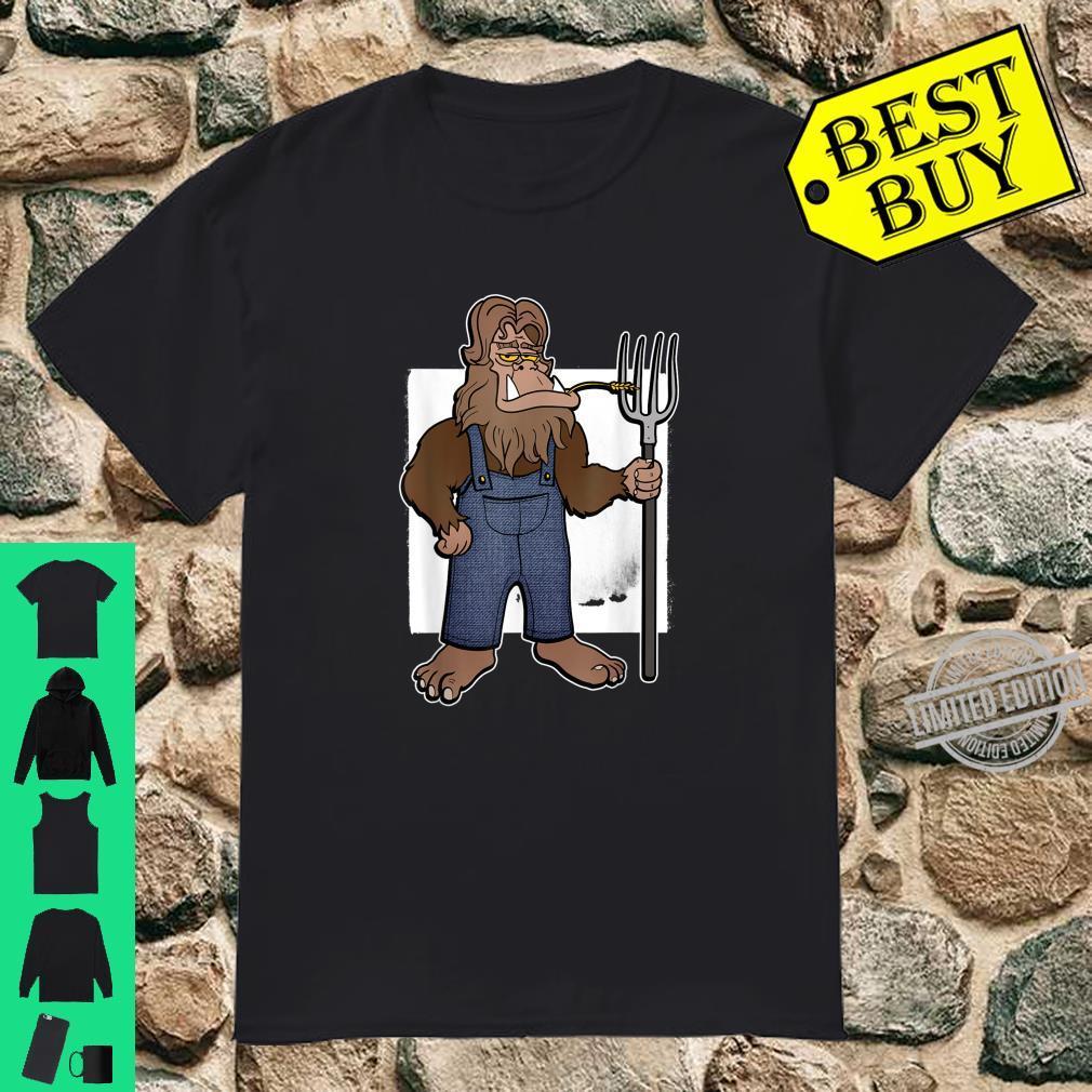 Bigfoot Farmer Garden Lawn Shirt