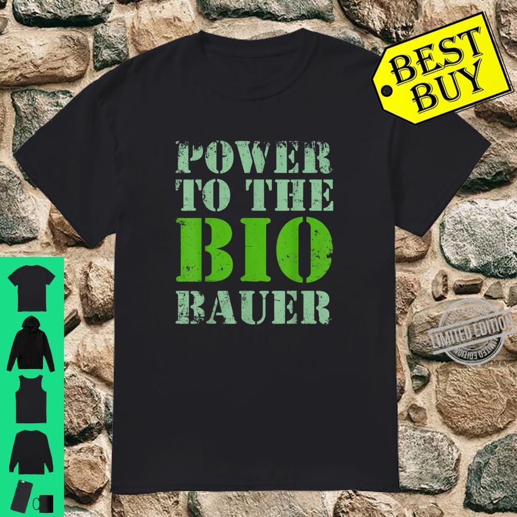 Biobauer BioBauer Bauer Bio Landwirt Farmer Herren Männer Shirt