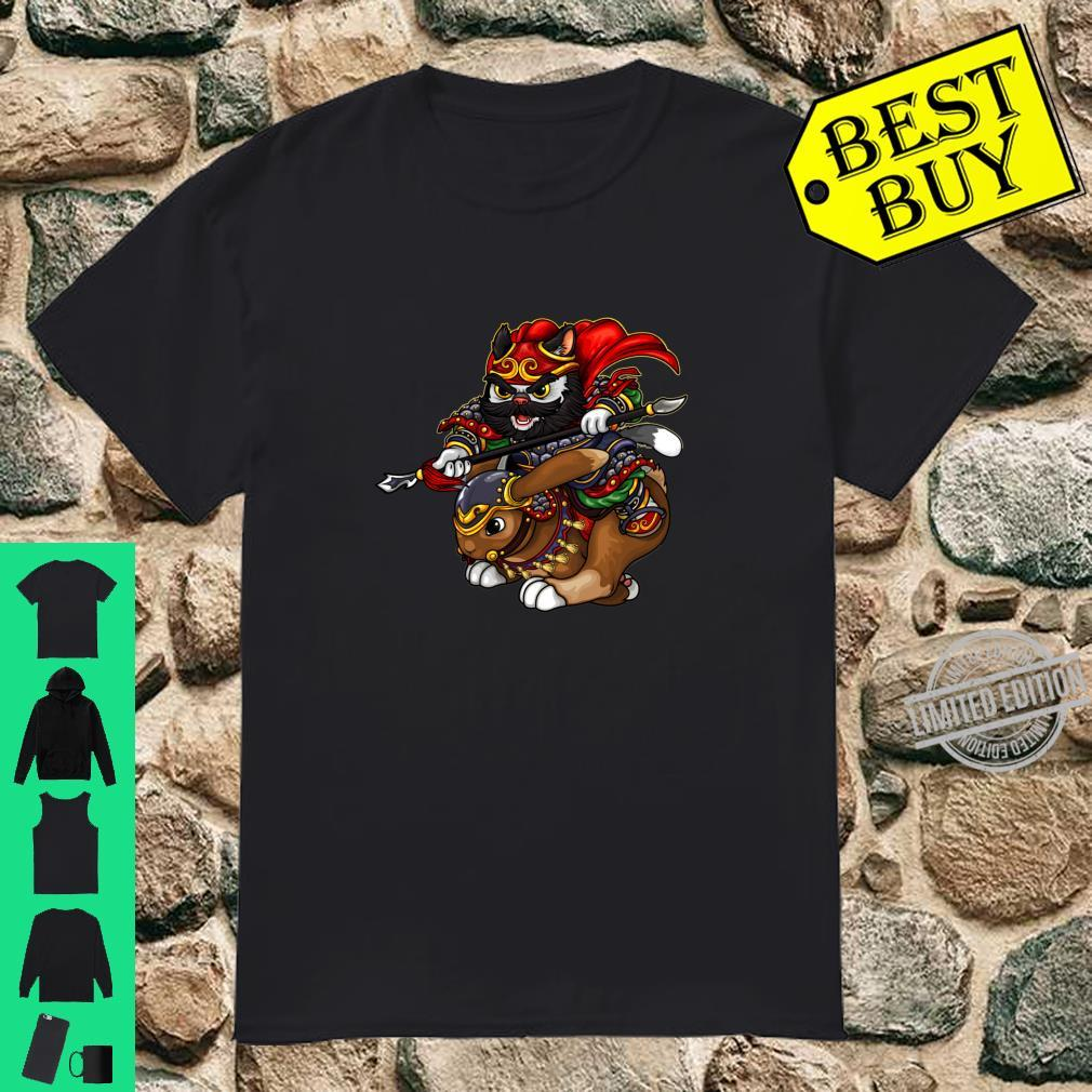 Cavalry Cat Riding Rabbet Shirt