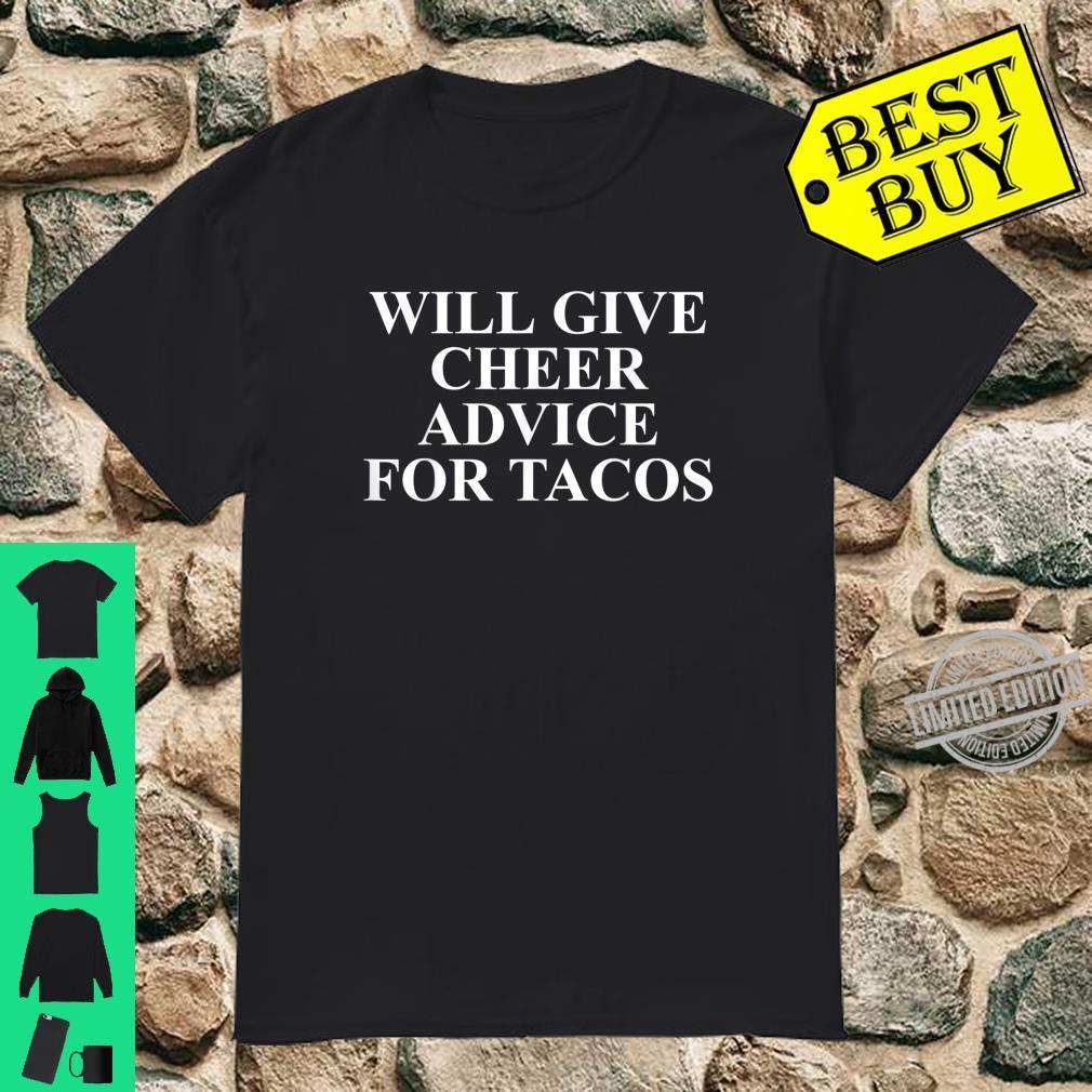 Cheer Coach Taco Apparel For Tacos Shirt