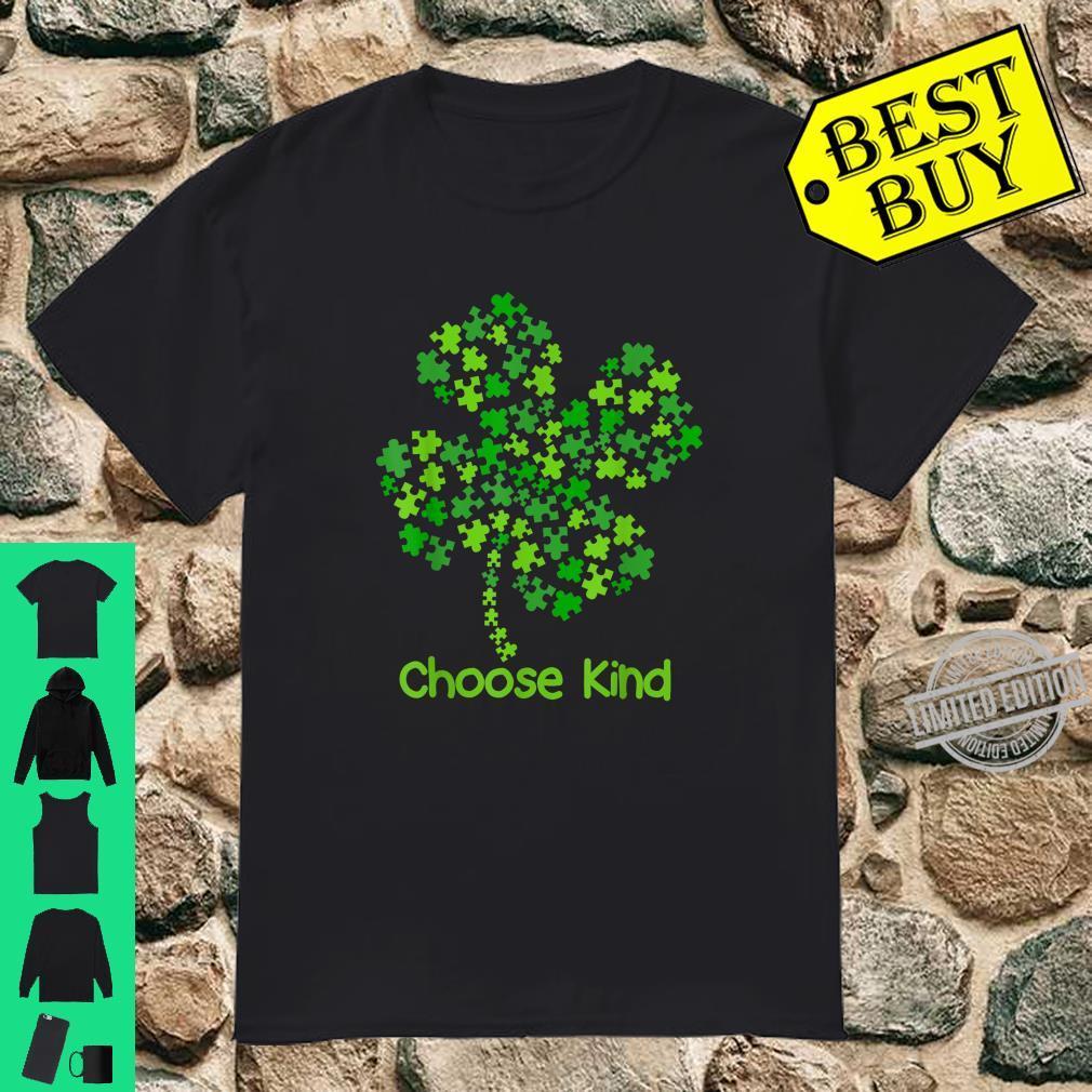 Choose Kind Autism Awareness St Patricks Day Shirt