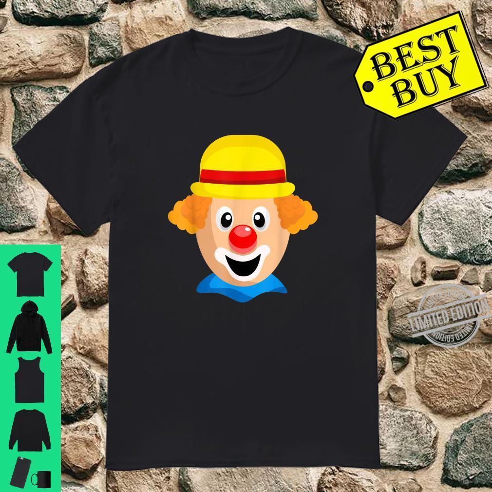 Clown Gesicht Karneval Kostüm Fasching Shirt