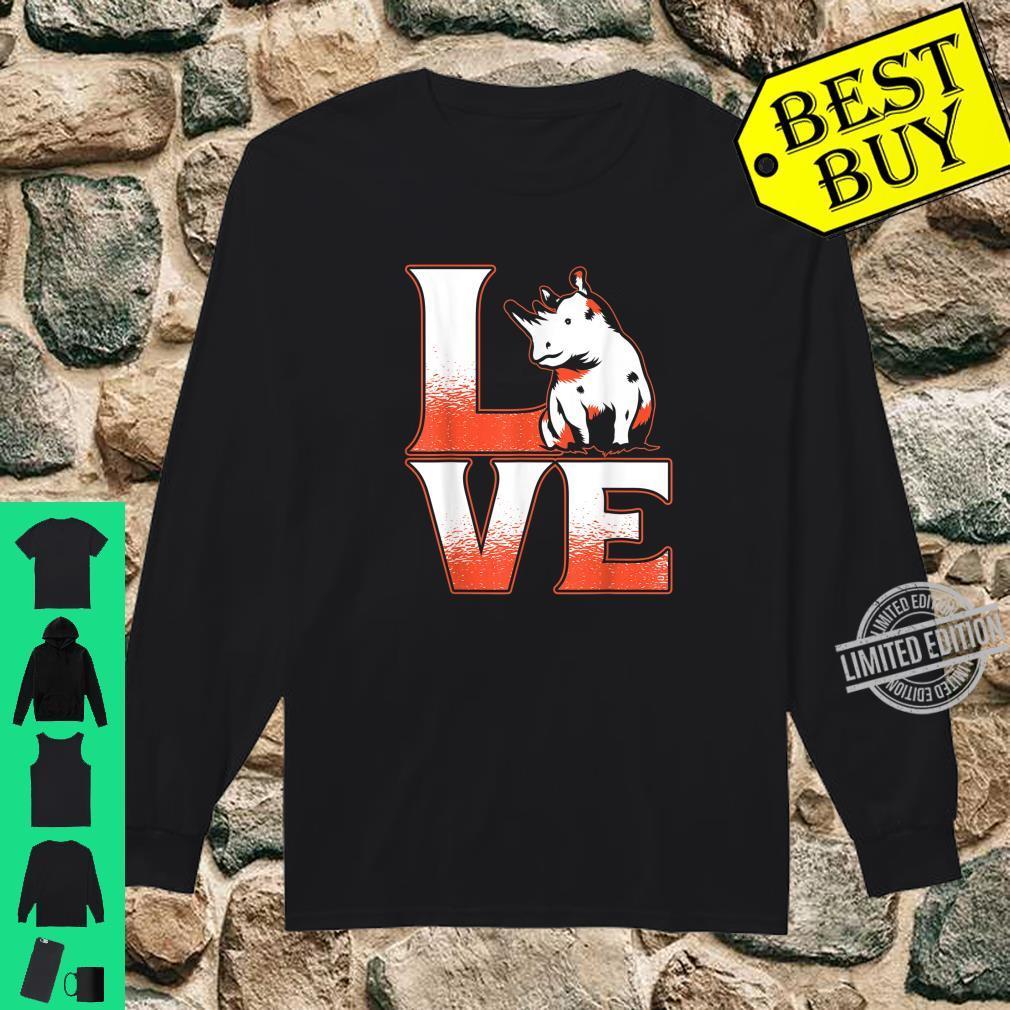 Cute Animal Adorable Idea Rhinoceros Rhino Shirt long sleeved