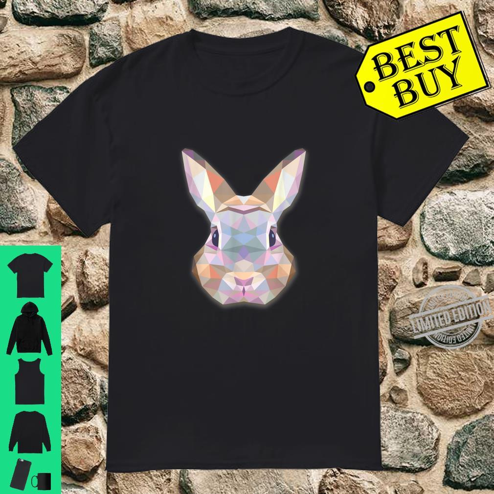 Cute Bunny Rabbit Polygonal Triangles Shirt