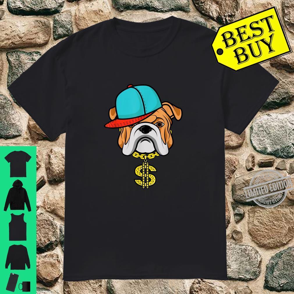 Cute Spitting Rapper Bulldog Fans Chain And Hat Shirt