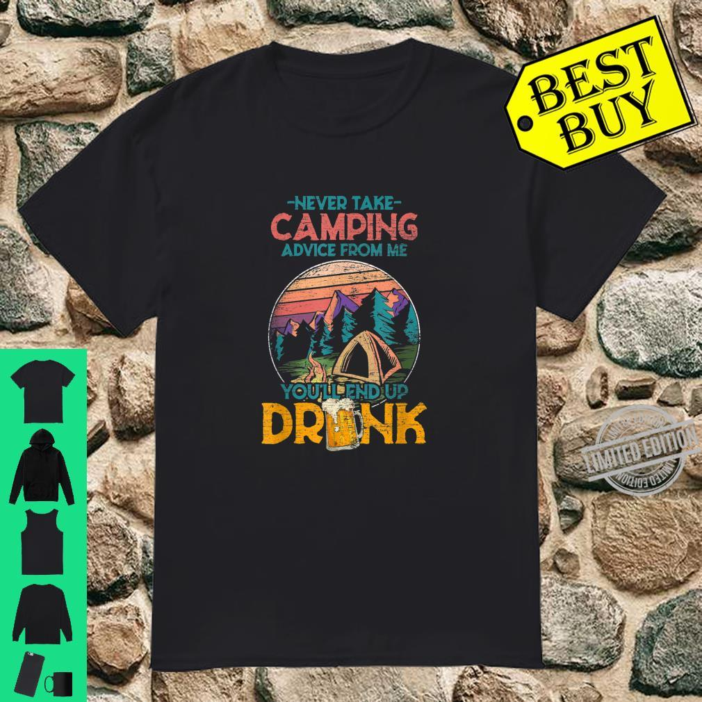 Drunk Camper Outdoor Forest Nature Hiking Hobby Camping Shirt