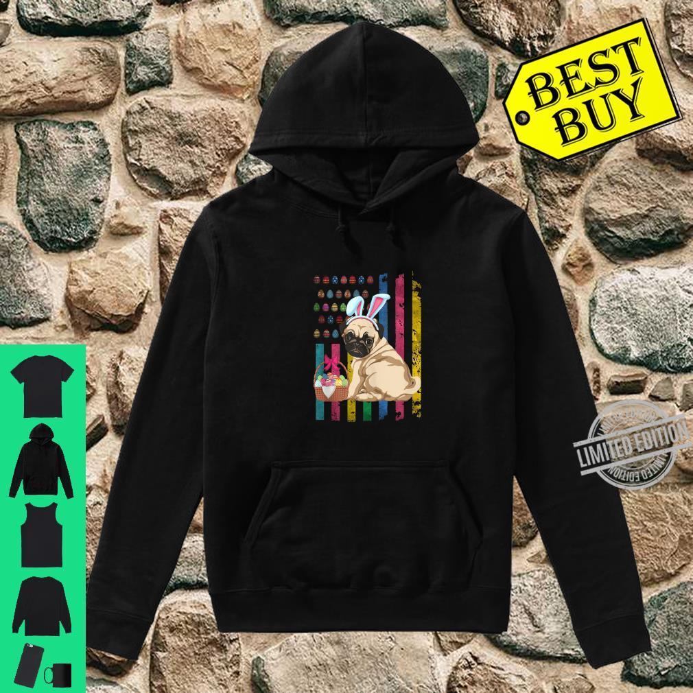 Easter American FlagFunny Pug Bunny Easter Shirt hoodie