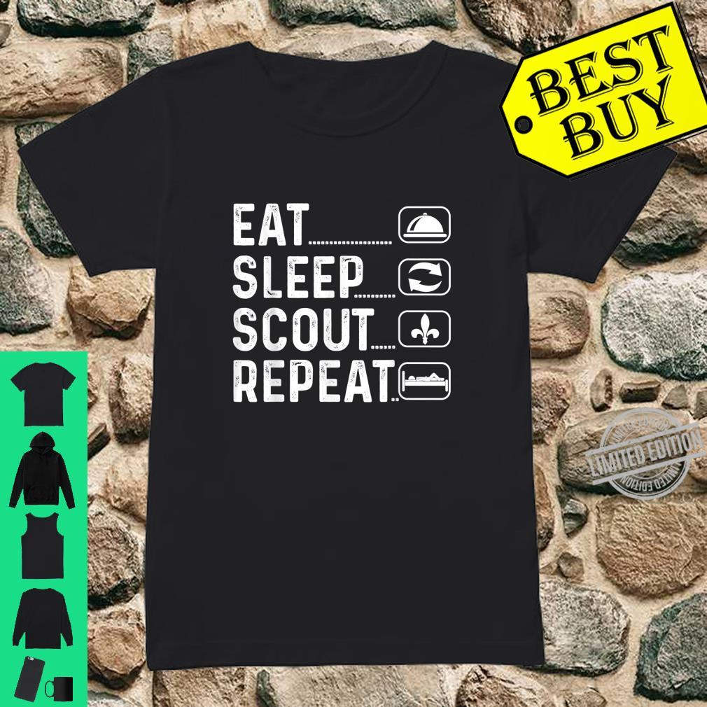 Eat Sleep Scout Repeat Scout Shirt ladies tee