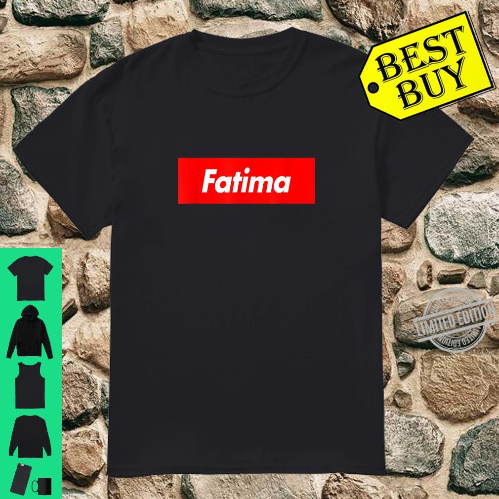Fatima Name Red Box Logo Shirt