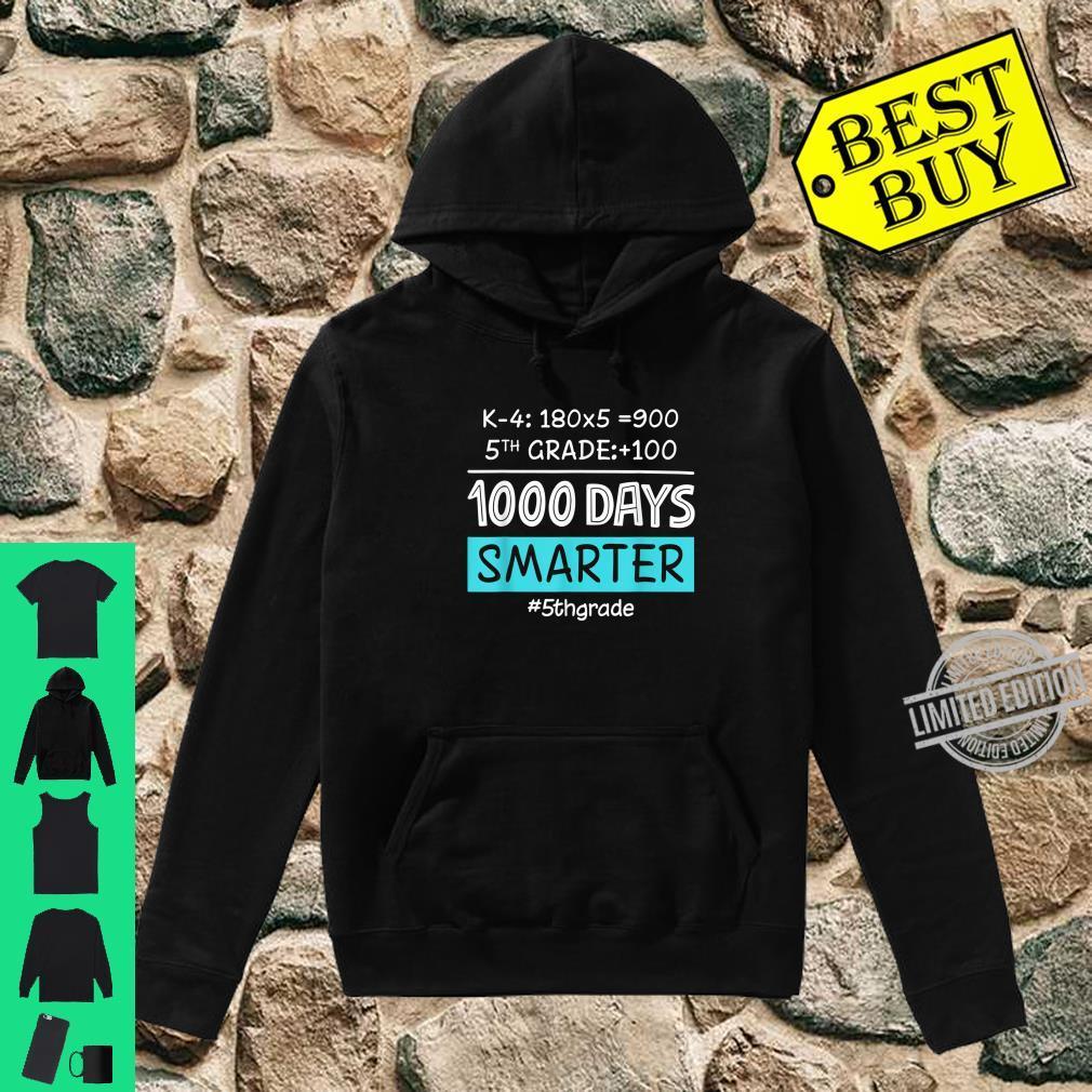 Fifth Grade Teacher 1000 Days Smarter Shirt hoodie
