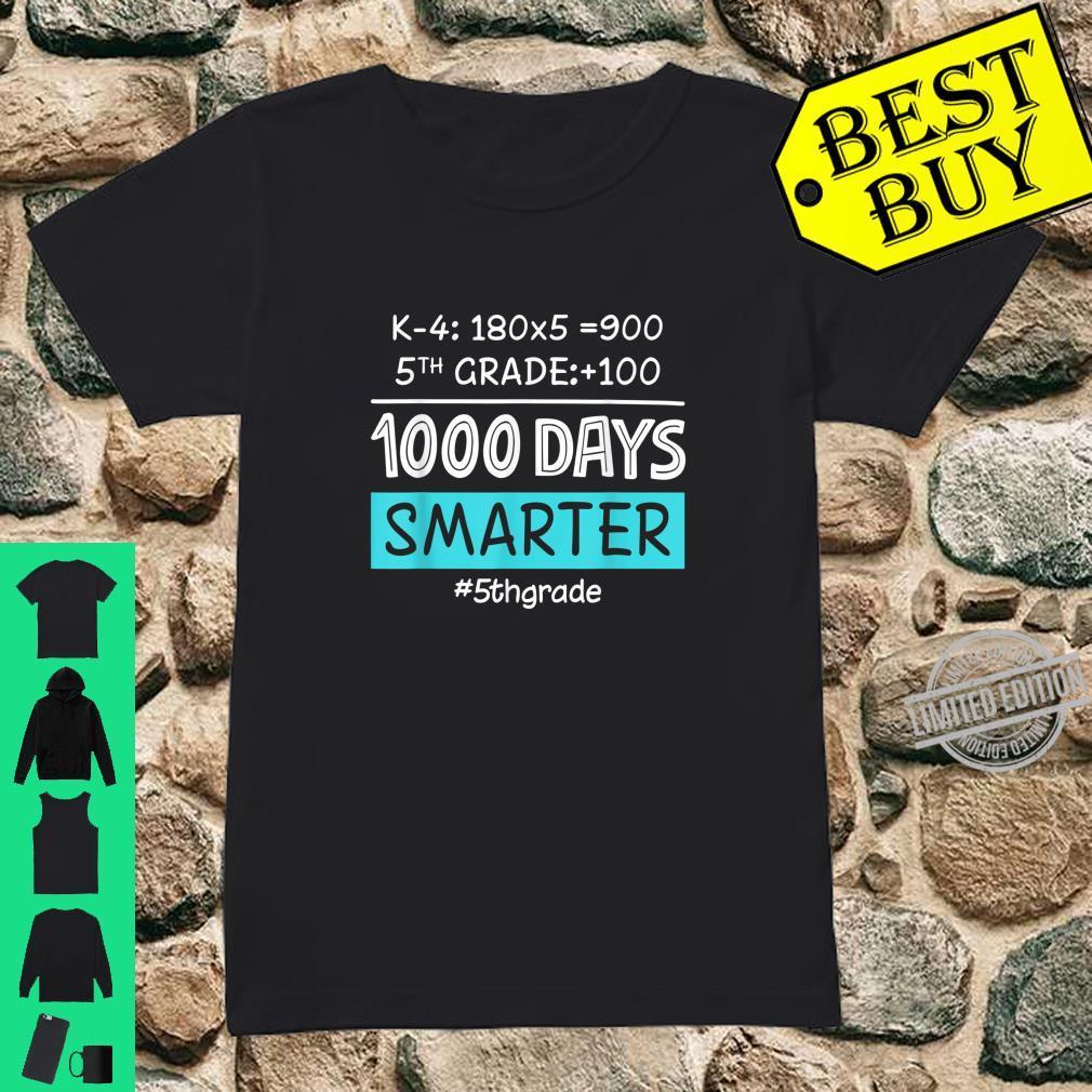 Fifth Grade Teacher 1000 Days Smarter Shirt ladies tee