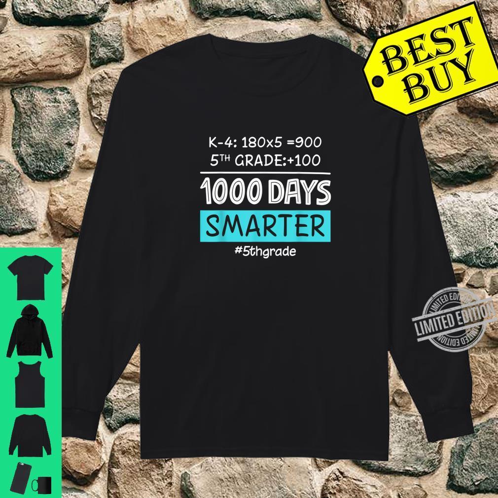Fifth Grade Teacher 1000 Days Smarter Shirt long sleeved