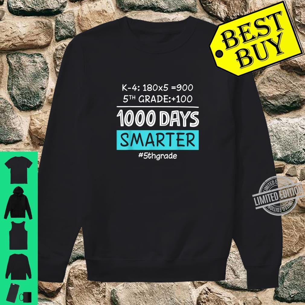Fifth Grade Teacher 1000 Days Smarter Shirt sweater