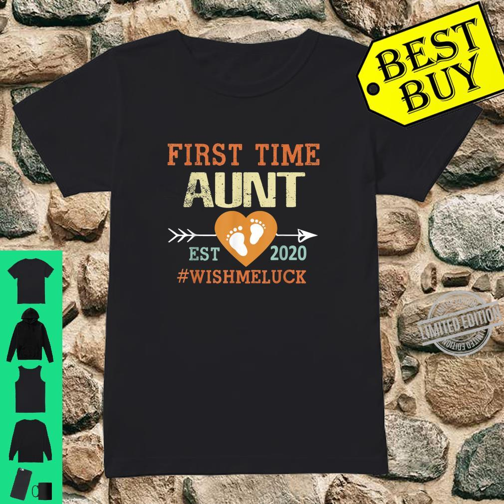 First Time Aunt Est 2020 Promoted to Aunt 2020 Shirt ladies tee