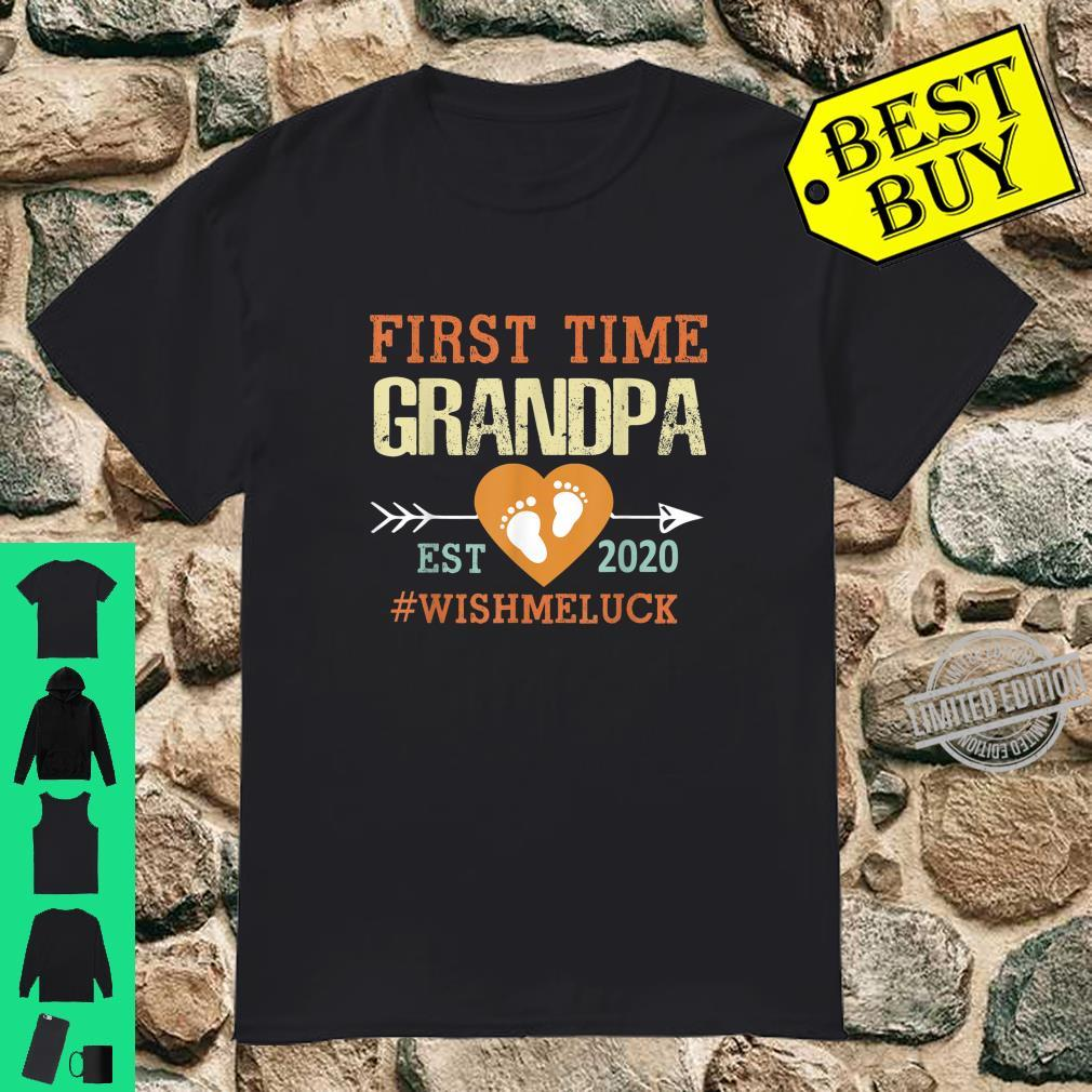 First Time Grandpa Est 2020 Promoted to Grandpa 2020 Shirt