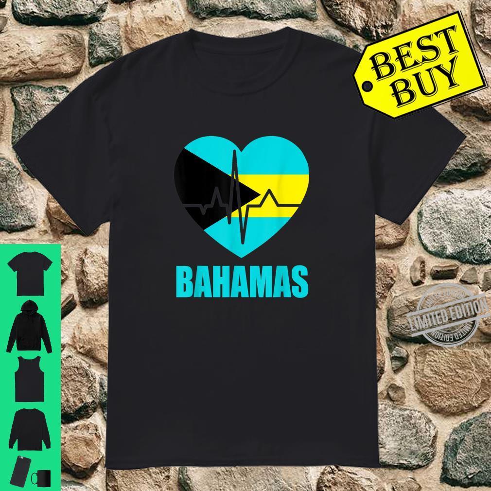 Flagcastle Bahamas Love Heartbeat Gift Flag Pride Shirt
