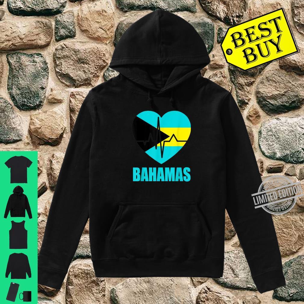 Flagcastle Bahamas Love Heartbeat Gift Flag Pride Shirt hoodie