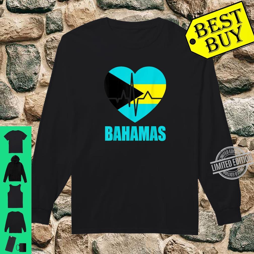 Flagcastle Bahamas Love Heartbeat Gift Flag Pride Shirt long sleeved