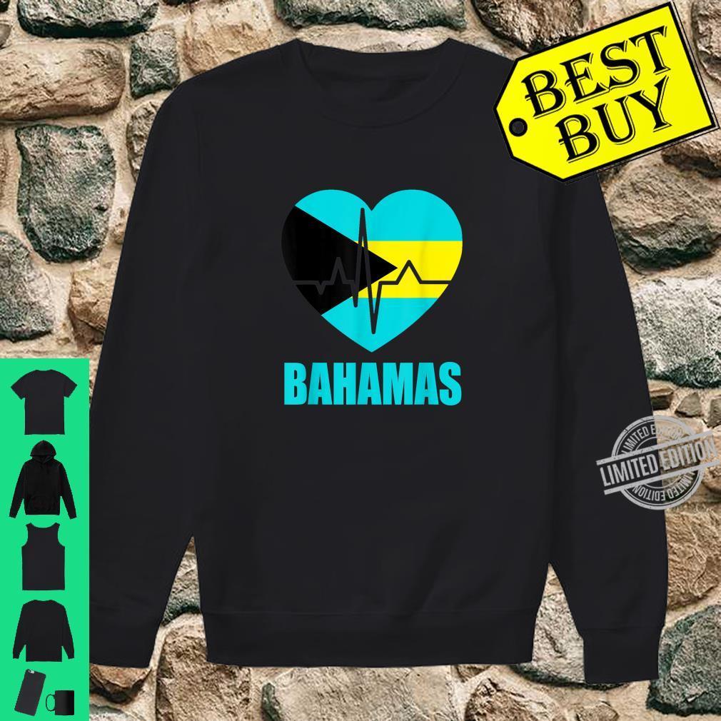 Flagcastle Bahamas Love Heartbeat Gift Flag Pride Shirt sweater