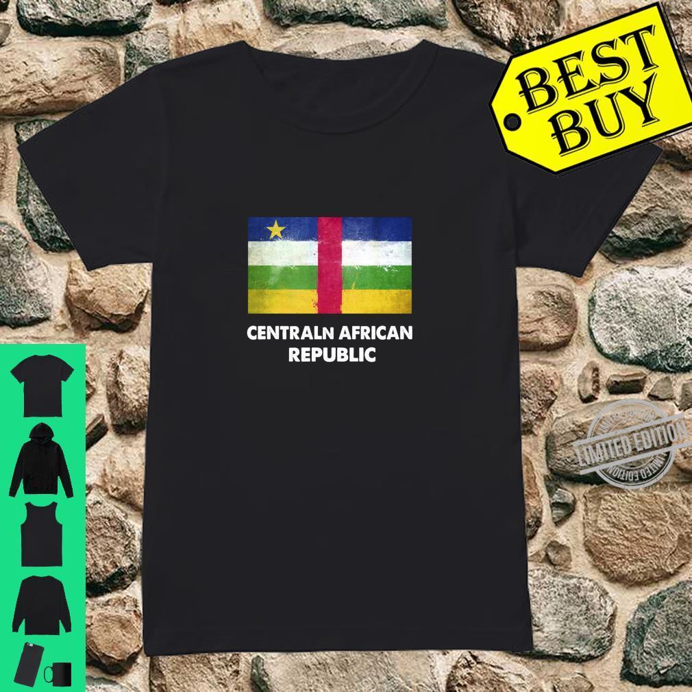 Flagge der Zentralafrikanischen Zentralafrikanischen Republi Langarmshirt Shirt ladies tee