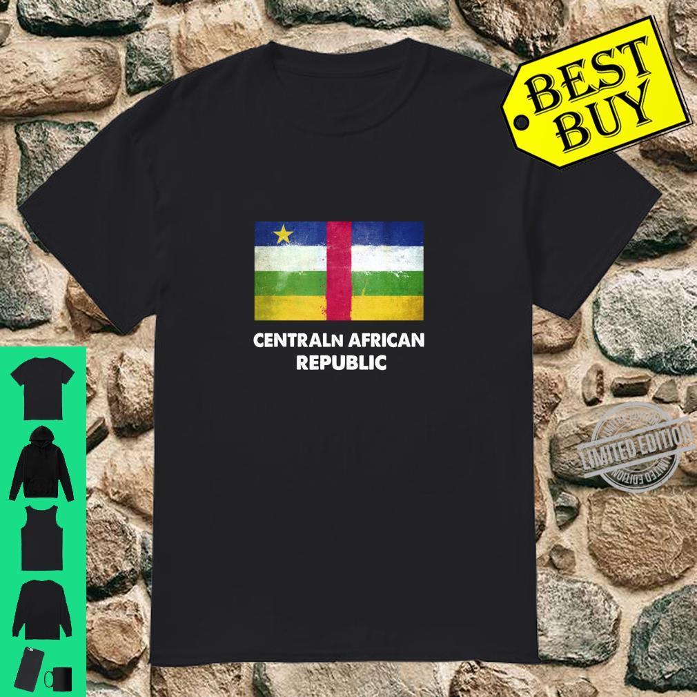 Flagge der Zentralafrikanischen Zentralafrikanischen Republi Langarmshirt Shirt