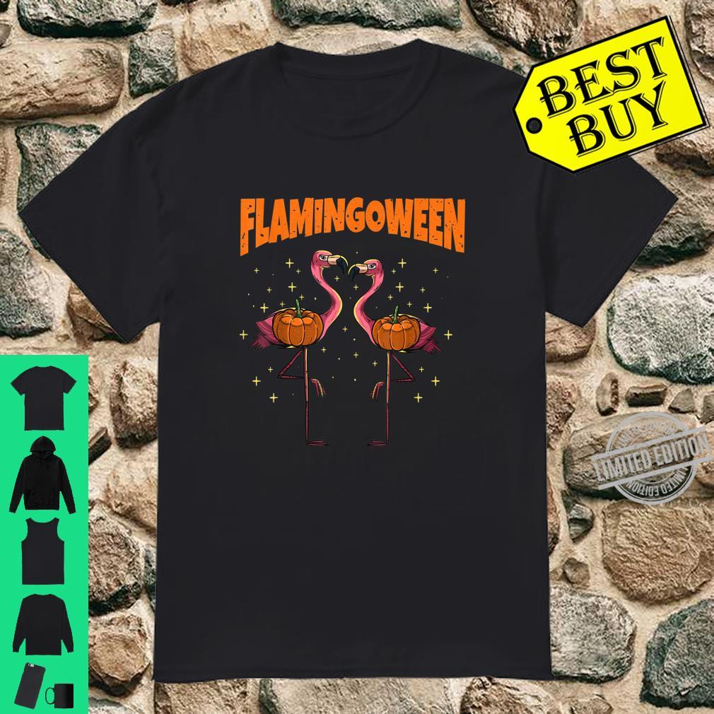 Flamingoween Pumpkin Flamingos Bird Halloween Costume Shirt