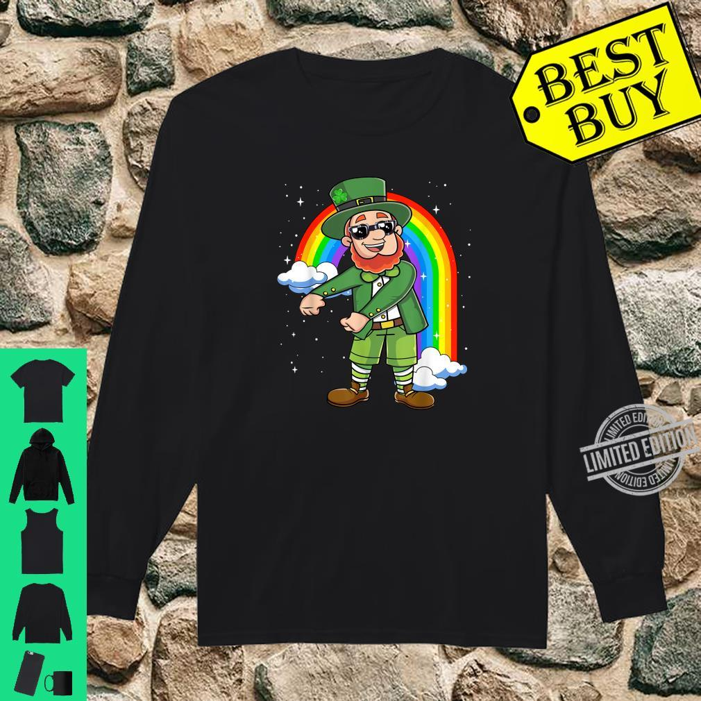 Flossing Leprechaun St Patricks Day Floss Like a Boss Shirt Shirt long sleeved