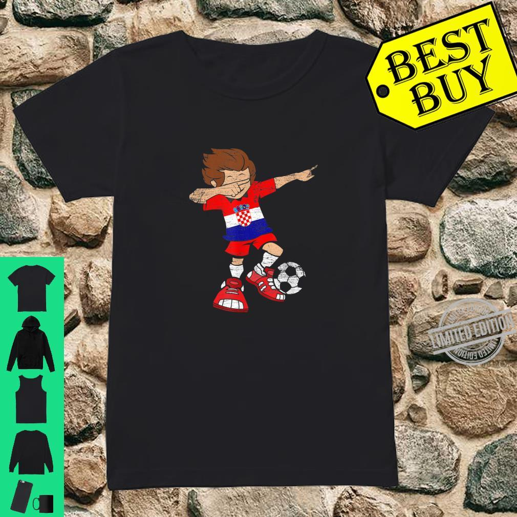 Football Croatian Jersey Dab Soccer Boy Croatia Shirt ladies tee