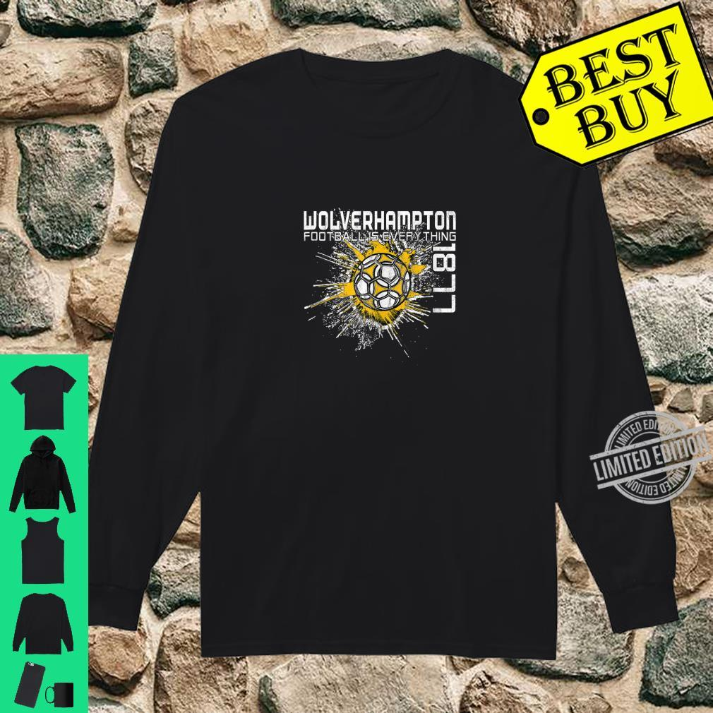 Football Is Everything Wolverhampton Splatter Vintage Shirt long sleeved