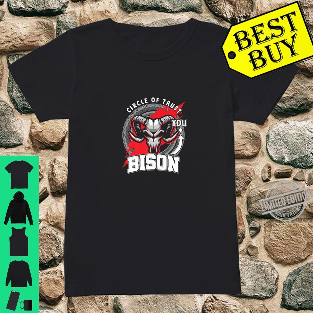 Funny Bison Lover Circle Of Trust Animal Shirt ladies tee
