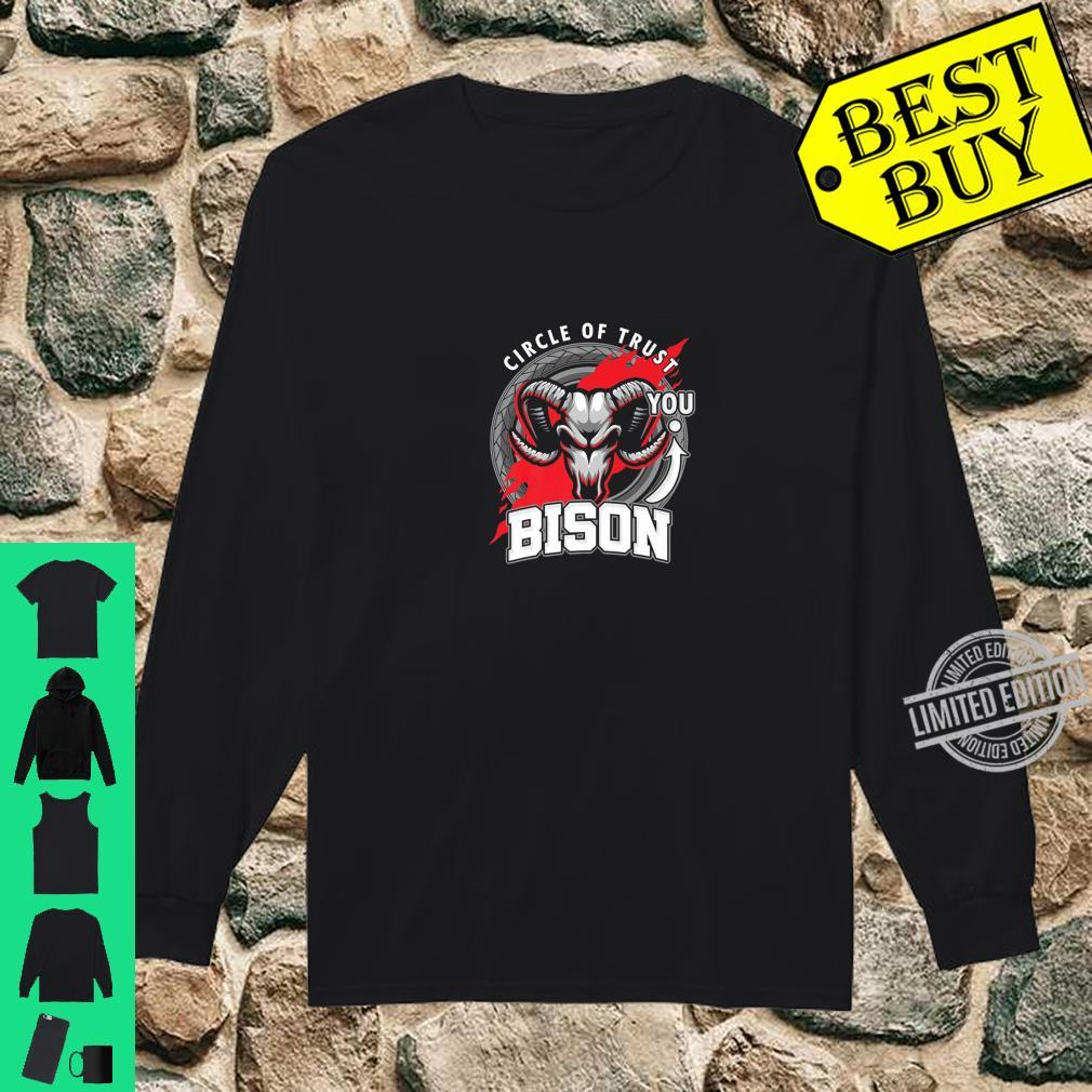 Funny Bison Lover Circle Of Trust Animal Shirt long sleeved
