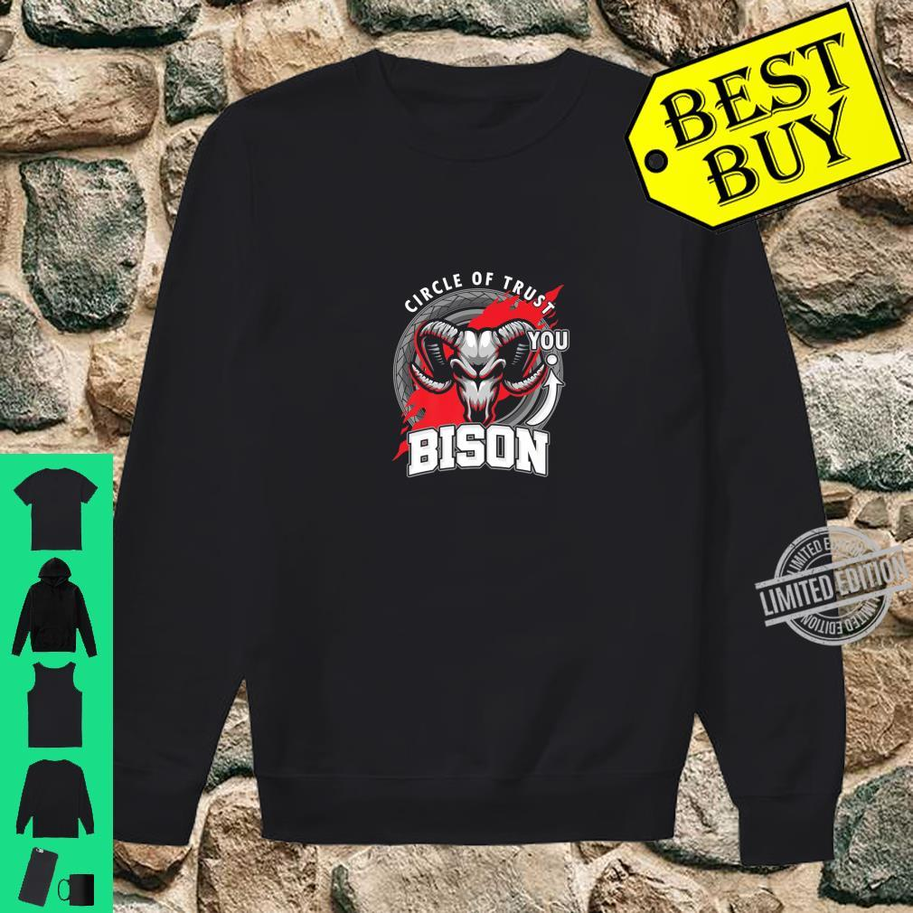 Funny Bison Lover Circle Of Trust Animal Shirt sweater